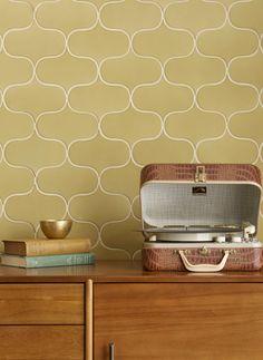Walker Zanger 6th Avenue Sofia in Lemongrass Bath Tiles, Glass Mosaic Tiles, Base Moulding, Moldings, Walker Zanger, Mid Century Modern Bedroom, House Tiles, Style Tile, Interior Walls