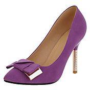 Stiletto Heels talón de las mujeres del ante ... – CLP $ 29.746
