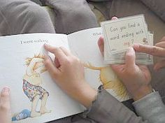 """Can you find"" cards for kids to use while reading.COOL!"