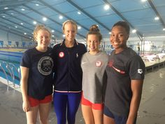 08.13.16 USA medly relay team for tonight: Back: Kathleen Baker' Fly: Vollmer; Breast: King; Free: Manuel #Rio2016