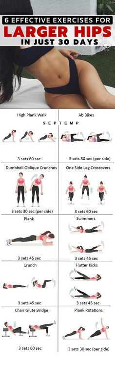 Hip workout Workout Health fitness Health and fitness articles Butt workout Fitness 6 Most Effective Exercises To Get Larger Hips Very Fast Healthy Solutions 24 Fitness Routines, Fitness Workouts, Ab Workouts, At Home Workouts, Fitness Motivation, Fitness Classes, Training Workouts, Fitness Quotes, Fitness Goals