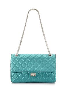 0af2a3d2856744 Metallic Turquoise Metallic Quilted Lambskin Leather 2.55 Reissue Double  Flap Bag by Chanel on Gilt.