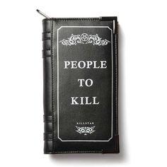 Killstar Kill List Book wallet black - Killstar   Attitude Europe