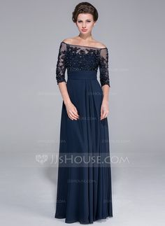 Mother of the Bride Dresses - $154.49 - A-Line/Princess Off-the-Shoulder Floor-Length Chiffon Tulle Mother of the Bride Dress With Lace Beading Sequins (017025450) http://jjshouse.com/A-Line-Princess-Off-The-Shoulder-Floor-Length-Chiffon-Tulle-Mother-Of-The-Bride-Dress-With-Lace-Beading-Sequins-017025450-g25450