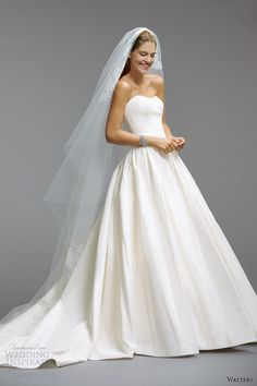 watters bridal wedding dresses 2014 strapless gown style 5059B