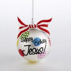 Christmas Ornaments Happy Birthday Jesus | Christmas Ornament - Happy Birthday Jesus-Happy Birthday Jesus ...