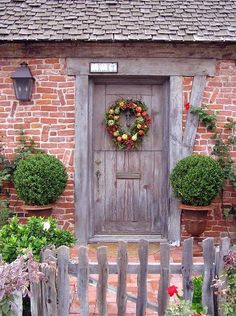 I dream of a quirky brick house with a old wooden dutch door!  (I didn't write that, but I'm happy to say it is true for me, too!)