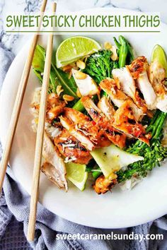 Easy sweet and sticky Chicken Thighs grilled to perfection! These skinless boneless chicken thighs are perfect any night of the week and can be paired with rice and greens for a complete meal… More