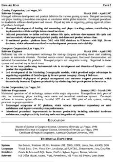 director of it resume templates