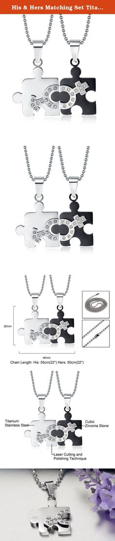 His & Hers Matching Set Titanium Couple Pendant Necklace Korean Love Style in a Gift Box (ONE PAIR). Due to its strength and versatility, Titanium has been increasingly used in a variety of jewelry styles. The anodizing process used to create Titanium jewelry allows it to be available in a wide variety of colors. Titanium is one of the most expensive modern-metal types due to the process used in order to create the metal. This metal type is extremely light and comfortable to wear, growing…