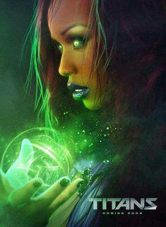 Anna Diop as Starfire in Titans Teen Titans Starfire, Nightwing And Starfire, Teen Titans Go, Live Action, Teen Titans Tv Series, Dc Comics, Cosmic Comics, New Titan, Sci Fi Tv Shows