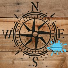 Nautical Compass Upcycled Pallet Art Wall Decor by ReUseItArt, $18.00