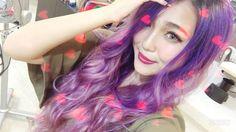 WEBSTA @ chiho1229 - ℕℯw ヘアカラー😈☪🌉💜🔮02chihochanの紹介で是非とも行ってみて下さいね☺︎👍🏻💭 #お洒落 #アンテナスクエア #アメ村 #osaka #大阪#purple #パープル #紫 #派手 #素敵 👾 #髪色変えた#失恋したわけでもありません #カラー #最高やん 👏🏻#ヘアカラー #Hair_Color #マニパニ 💜💆🏻 #Happy#髪色 #髪 #ロングヘア #ロングヘアー #Long_Hair#chihochan #似合う ? #今日は奈良へGo #RISE_UP