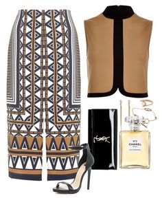 """Eid Mubarak ootd."" by aey-16 ❤ liked on Polyvore featuring Topshop, River Island, Yves Saint Laurent, Hermès and Chanel"