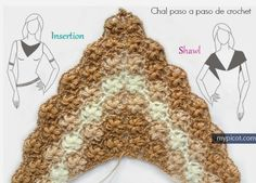 Chal paso a paso de crochet