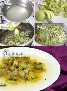 Kiwi Jam Recipe, How To - Womanly Recipes - Delicious, Practical and Delicious Food Recipes Site, Jam Recipes, Fruit Recipes, Healthy Eating Tips, Healthy Nutrition, Kiwi Jam, Free Fruit, Recipe Sites, Vegetable Drinks, Turkish Recipes