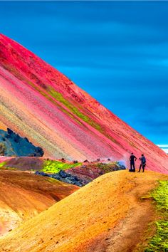 Amazing colors during the Landmannalaugar trail