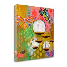 Tangletown Fine Art 'Float Softly Upwards' by Jessica Swift Painting Print on Wrapped Canvas