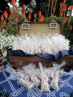 Taffy favors for the guest to enjoy at the party or on the way home!