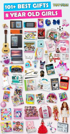 Browse our Birthday Gift Guide For Kids 2019 with 300+ Best Gifts For Girls. Discover educational toys, unique kids gifts, kids games, kids books, and more for your 8 year old girl. Make her Birthday or Christmas extra magical with these delightful picks she'll love! #christmasgifts #birthdaygifts #giftguide #giftideasforkids