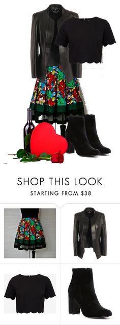 """Marvel date"" by belle-papillon ❤ liked on Polyvore featuring Marvel Comics, Alexander McQueen, Ted Baker and Witchery"