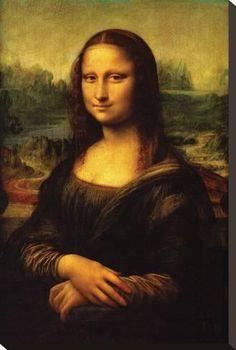 Stretched Canvas Print: Mona Lisa, c.1507 by Leonardo da Vinci : 24x16in