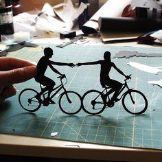 paper cut outs.
