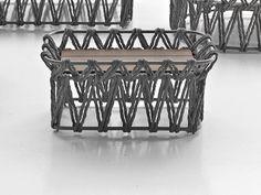 Table basse de jardin rectangulaire en frêne BUTTERFLY | Table basse rectangulaire by B&B Italia Outdoor
