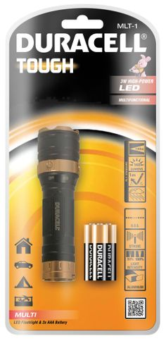 MLT-1 Duracell Multi Beam LED Torch - Supplied with 3 AAA Batteries - http://www.duracelldirect.co.uk/pno/mlt-1.html