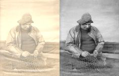 fisherman in sou'wester, oilskin & gainsay Photo Repair, Old Photos, The Twenties, The Originals, Art, Old Pictures, Art Background, Antique Photos, Vintage Photos