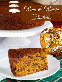 Rum Raisin Fruitcake - a simplified recipe for a a spiced or un-spiced cake, featuring no other fruit than raisins, which have been soaked overnight in rum.