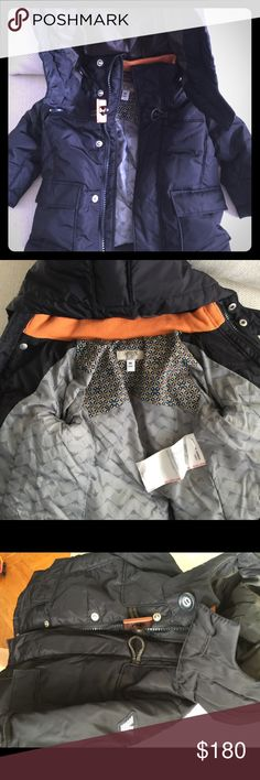 Armani Baby Down Hooded Puffer Coat/Jacket Genuine Armani Baby 100% down Puffer coat. Machine washable. Very warm. Comfortable. Light. Not stiff or heavy like others yet provides superior warmth!! Has toggle and zips. Looks new. Giorgio Armani Jackets & Coats Puffers