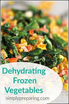 Dehydrating Frozen Vegetables Dehydrating frozen vegetables is easy to do. Save time, money and space by dehydrating frozen vegetables. Learn many uses for dehydrated frozen veggies! Dried Vegetables, Frozen Vegetables, Veggies, Dry Soup Mix, Soup Mixes, Emergency Preparation, Emergency Preparedness, Walnut Recipes, Dehydrator Recipes