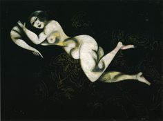 Nude Lying Down - Marc Chagall