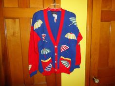 NOS NWT Ladies South Cotton Hand Loomed Spring/Summer Sweater. Size M/L. $110 #SouthCotton #Cardigan