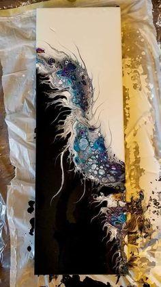 Using Acrylic Paint Acrylic Painting Techniques Acrylic Art Flow Painting Pour Painting One Stroke Acrylic Pouring Resin Art Fatale Flow Painting, Pour Painting, Painting Canvas, Acrylic Pouring Art, Acrylic Art, Acrylic Paintings, Art Paintings, Smart Art, Fluid Acrylics
