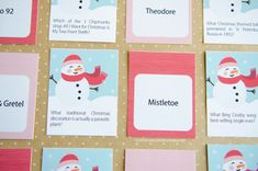 Christmas Game Printable :: Great for Christmas parties, holiday gatherings, family, kids Handmade Christmas, Christmas Crafts, Christmas Parties, Christmas Printables, Christmas Ideas, Christmas Trivia Games, Fabric Scraps, Fabric Bows, Crazy Kids