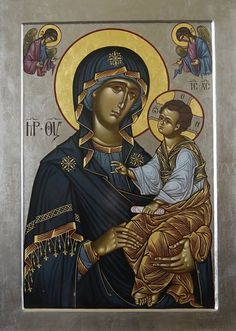 Madonna and Child. Byzantine Icons, Byzantine Art, Religious Icons, Religious Art, Orthodox Christianity, Madonna And Child, John The Baptist, Blessed Virgin Mary, Art Icon