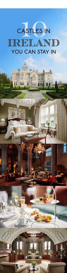 10 stunning Irish castles you can stay in! These castle hotels in Ireland are perfect for families, golfers and kids with plenty of activities like horseback riding, boating, golfing, archery and hiking. there's also incredible restaurants serving local Irish food and delicious afternoon tea. #ireland, ireland things to do, irish castles, ireland castles, irish castle hotels, irish castles interior, irish castles wedding, irish castles to stay in, ireland travel, ireland landscape, ireland…