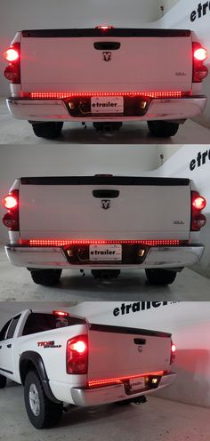 Universal-fit light bar adds style and flair to your ride with high-intensity red LEDs. Quick, simple installation with tape. Ram Trucks, Ford Trucks, Pickup Trucks, Diesel Trucks, Lifted Trucks, Pickup Truck Accessories, Jeep Accessories, Truck Accesories, Silverado Accessories