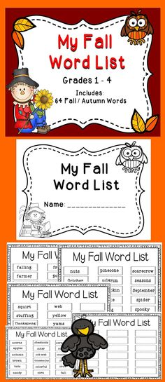 Fall Freebie - Enjoy this fun Fall Freebie with your students! Just print and copy to help students build their vocabulary and reading skills. #tpt #reading #literacy