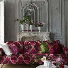 monplaisir - berry fabric | Designers Guild