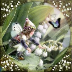 Lily of the Valley Fairy Painting by Miharu Yokota | Cuded