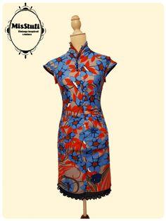 Japanese style for kimono dress whith vintage fabric!