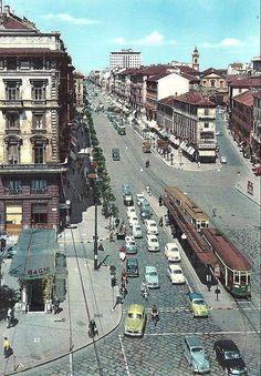 Corso Buenos Aires. In basso a sinistra l'entrata dei Bagni di Porta Venezia   da Milàn l'era inscì