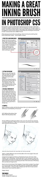 A comic book inking brush tutorial I put together for Photoshop. #comicbooks #comicbookinking