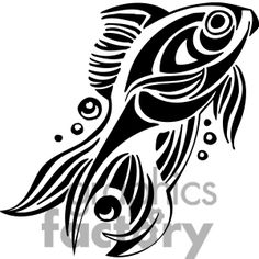 Clip art of abstract fish Fish Stencil, Animal Stencil, Stencil Painting, Stencil Patterns, Pattern Art, 3d Cuts, Nagel Stamping, Image 3d, Free Image