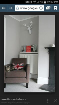 picture ledge over the radiator to hold magazines and books - Shelterness Living Room Grey, Home Living Room, Living Room Decor, Radiator Shelf, Ideas Habitaciones, Sofa Bed Mattress, Family Room Design, Diy Bathroom Decor, Room Paint