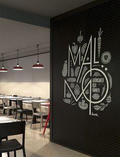 Nice graphic and type work - at Malmö restaurant in Sweden | Borja Garcia Studio: