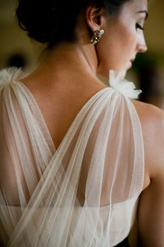 tulle strap detail.